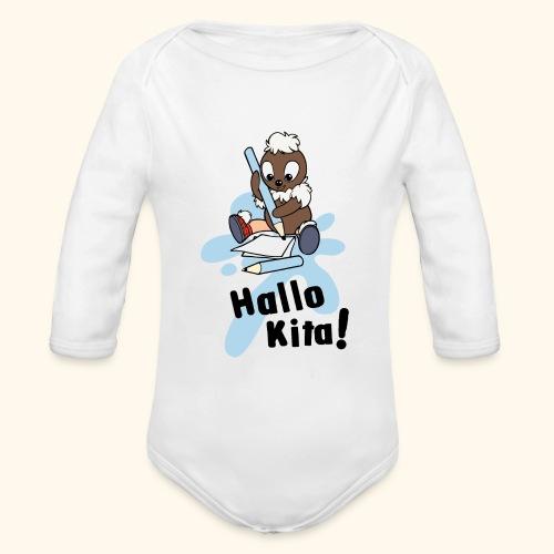 Pittiplatsch Hallo Kita! - Baby Bio-Langarm-Body