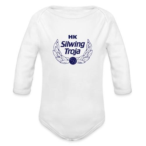 HK Silwing Troja Logo - Ekologisk långärmad babybody