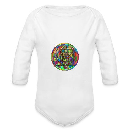mandala et géométrie sacrée - Body Bébé bio manches longues