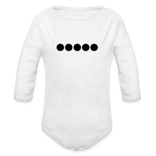 Dots Flexdruck - Baby Bio-Langarm-Body