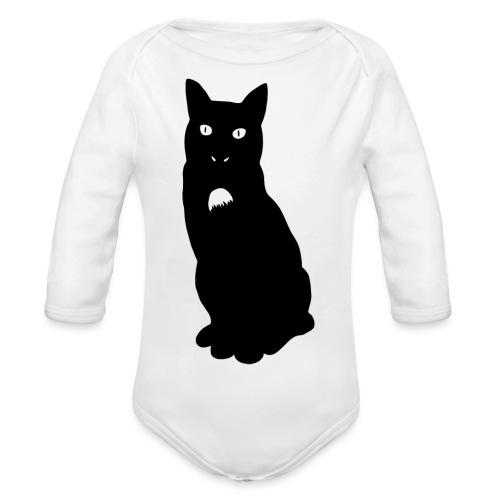 Knor de kat - Baby bio-rompertje met lange mouwen
