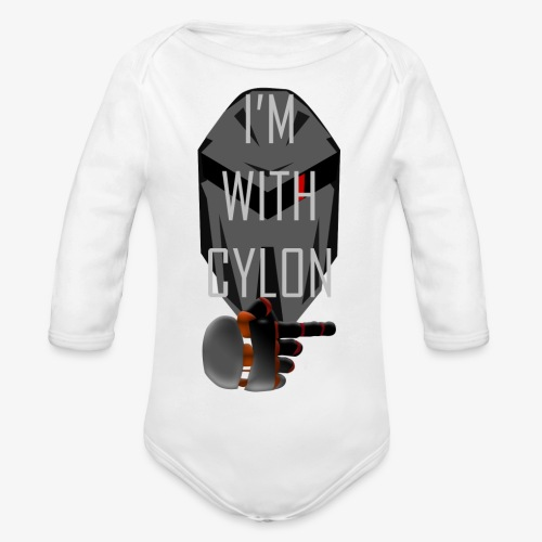 I'm with Cylon - Økologisk langermet baby-body