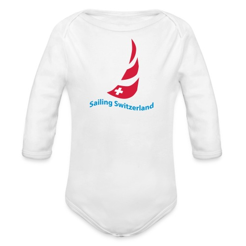 logo sailing switzerland - Baby Bio-Langarm-Body