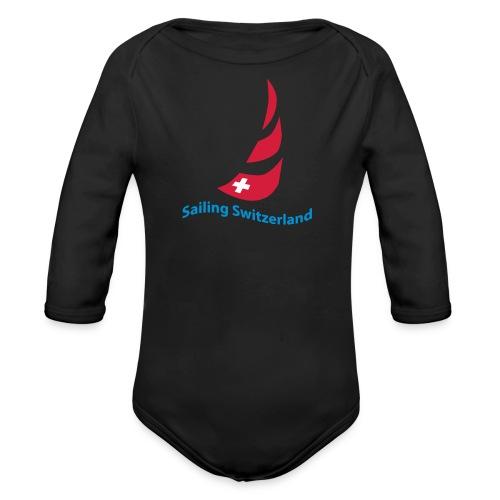 logo sailing switzerland - Baby Bio-Langarm-Body