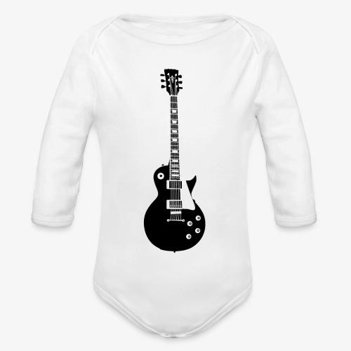 Musikinstrument Gitarre - Musiker T-Shirt Designs - Baby Bio-Langarm-Body