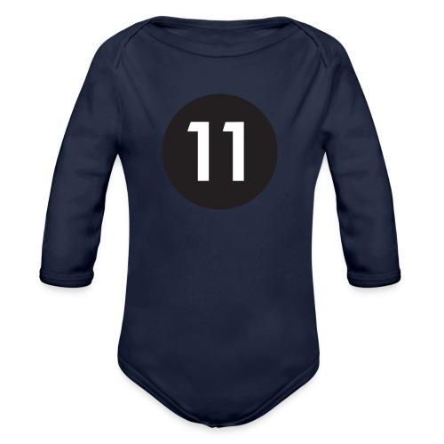 11 ball - Organic Longsleeve Baby Bodysuit