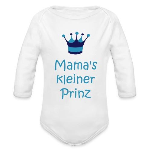 Mama's kleiner Prinz - Baby Bio-Langarm-Body
