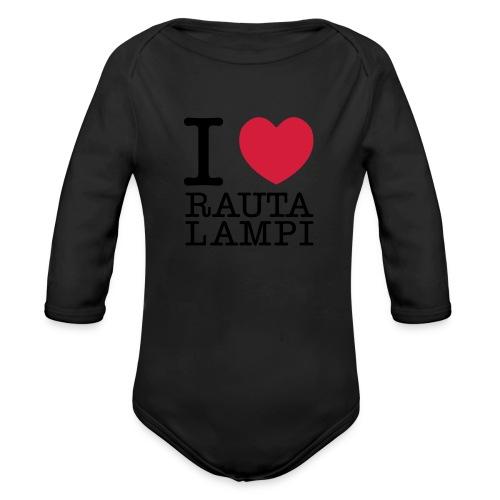 iloverautalampi2 - Vauvan pitkähihainen luomu-body
