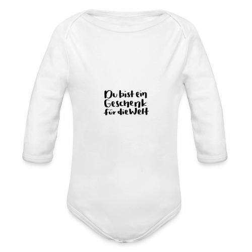 Montanjas Geschenk für die Welt - Baby Bio-Langarm-Body