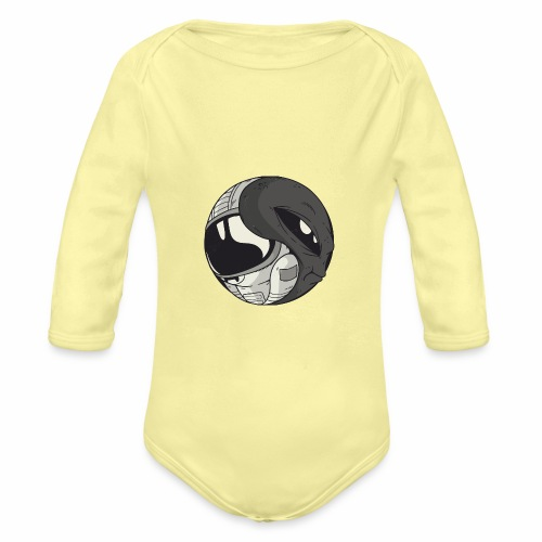 Yin Yang space Alien und Astronaut - Baby Bio-Langarm-Body