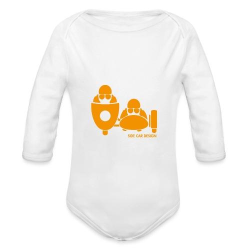 BASSET LOGO orange - Body Bébé bio manches longues