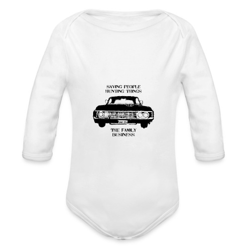 impala black - Organic Longsleeve Baby Bodysuit