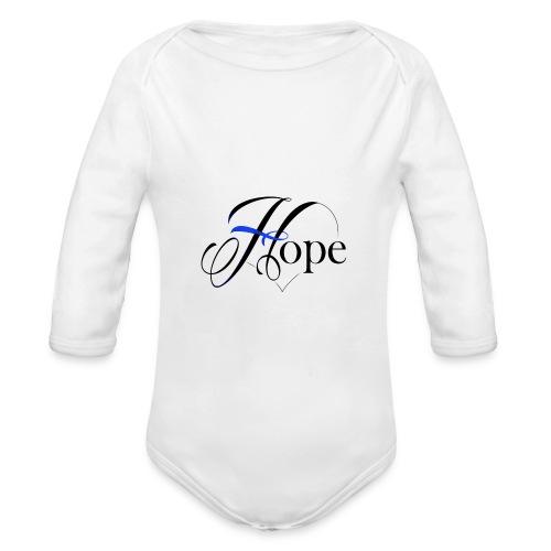 Hope startshere - Organic Longsleeve Baby Bodysuit