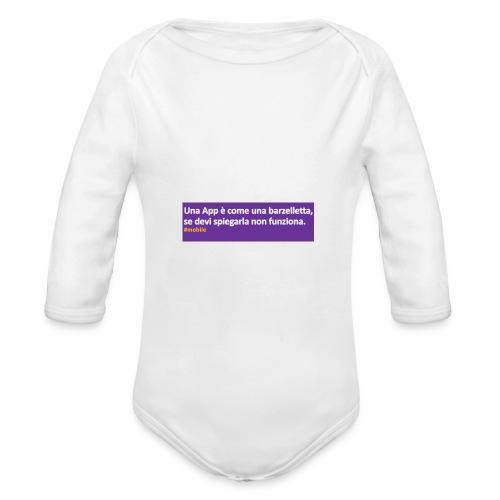 barzelletta - Body ecologico per neonato a manica lunga