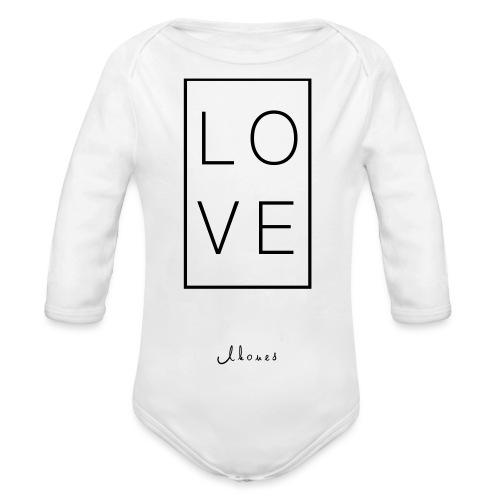 LOVE - Organic Longsleeve Baby Bodysuit