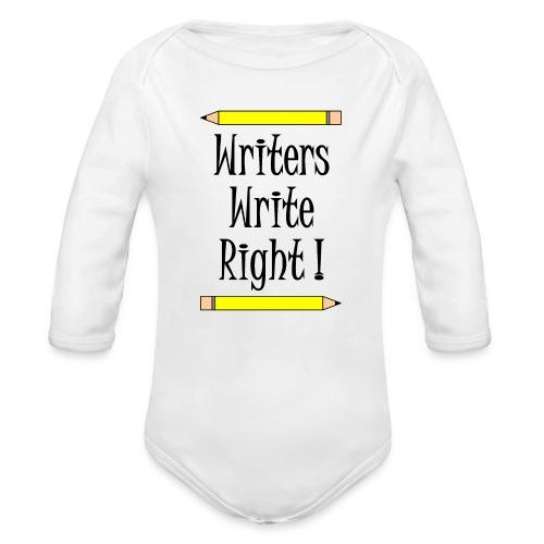 Writers Write Right - Organic Longsleeve Baby Bodysuit