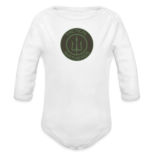 Tactical Shitheads Logo - Baby Bio-Langarm-Body