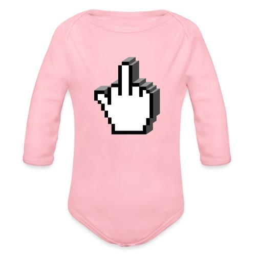 Middle_Finger_Design - Organic Longsleeve Baby Bodysuit