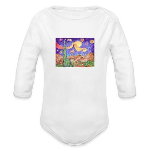 1 - Body orgánico de manga larga para bebé