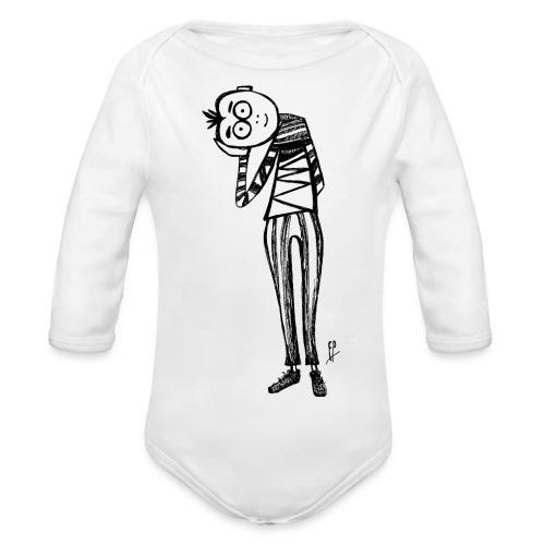 Point de vue en noir et blanc - Body ecologico per neonato a manica lunga