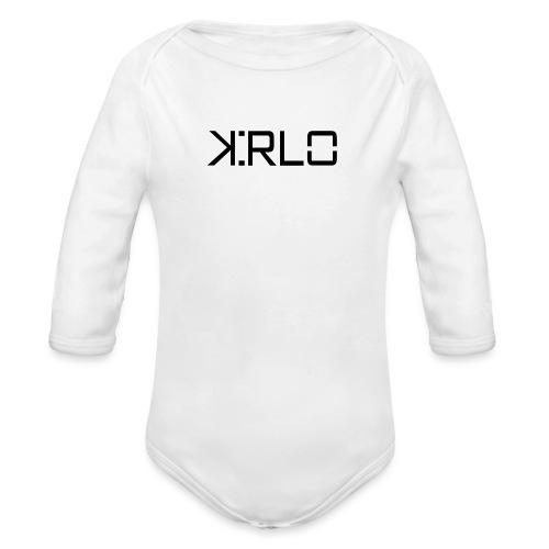 Kirlo Logotipo Negro - Body orgánico de manga larga para bebé