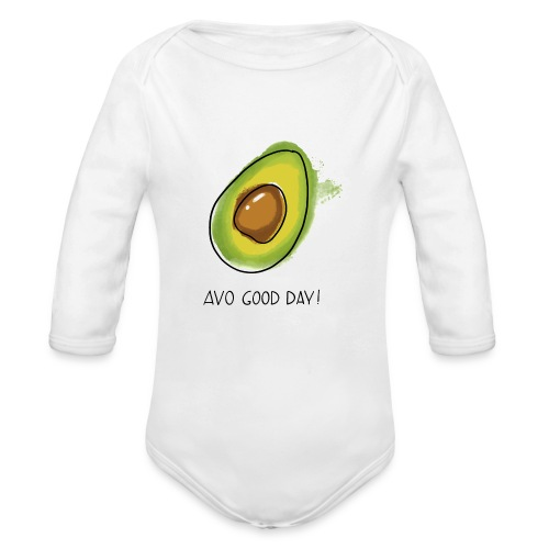 Fruit Puns n°2 Avo Good Day, Avocado - Baby Bio-Langarm-Body