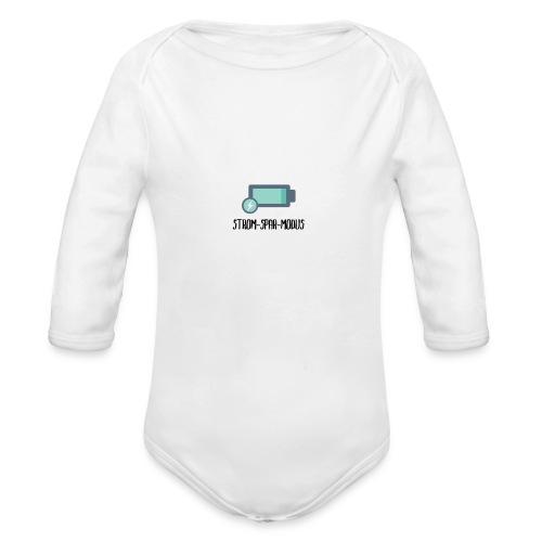 Stromsparmodus Lustige T-Shirts - Baby Bio-Langarm-Body