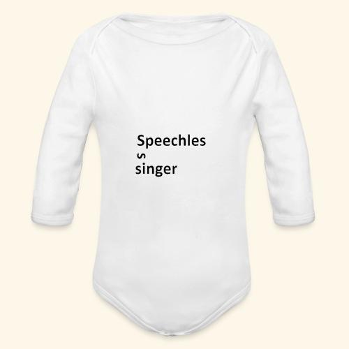 Speechless singer - Vauvan pitkähihainen luomu-body