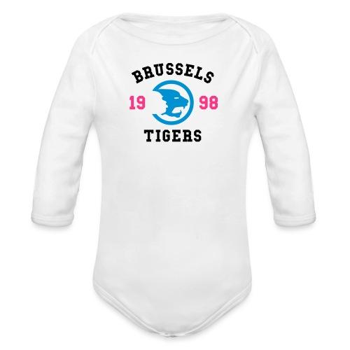 BrusselsTigers 1998BlackC - Organic Longsleeve Baby Bodysuit