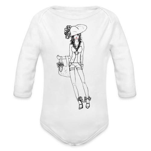 Alessia - Body ecologico per neonato a manica lunga