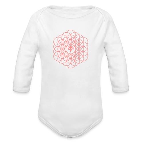 Blume des Lebens Pink - Baby Bio-Langarm-Body
