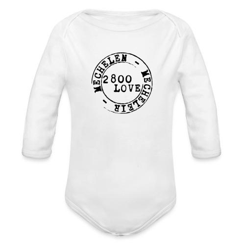 2800 Love - Baby bio-rompertje met lange mouwen