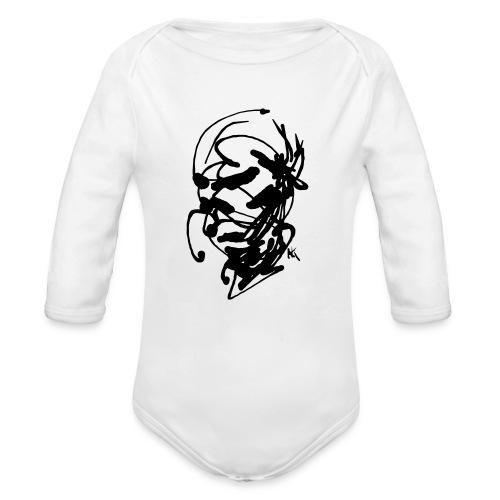 face - Organic Longsleeve Baby Bodysuit