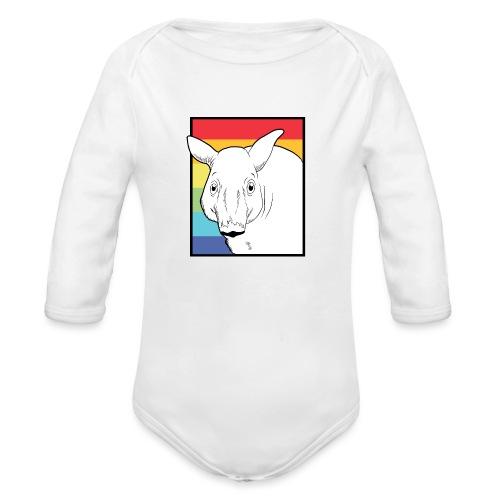Tapir mit Regenbogen Farben - Baby Bio-Langarm-Body