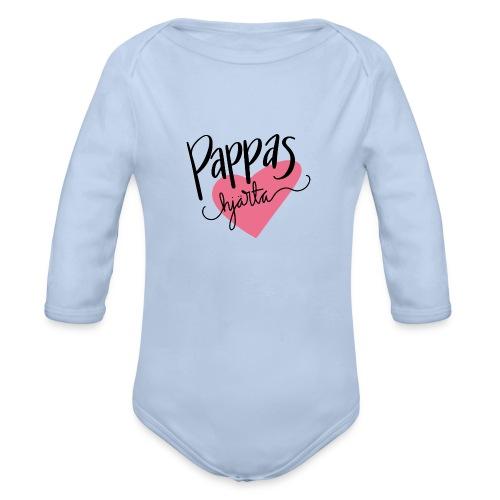 Pappas hjärta - Ekologisk långärmad babybody