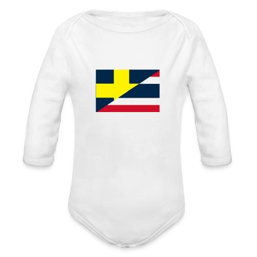 thailands flagga dddd png - Organic Longsleeve Baby Bodysuit