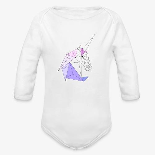 Einhorn geometrie unicorn - Baby Bio-Langarm-Body