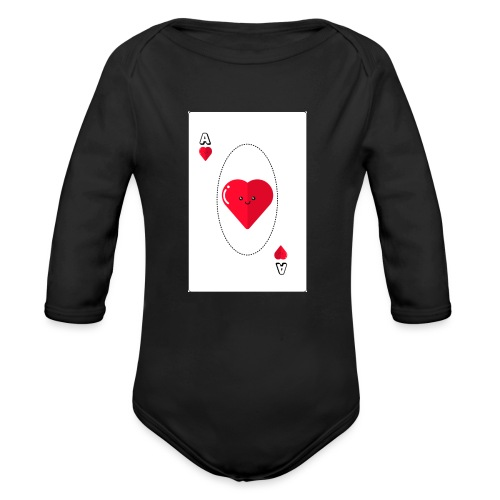 poker heart - Body orgánico de manga larga para bebé