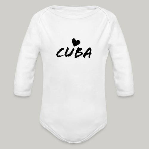 Cuba Herz - Baby Bio-Langarm-Body