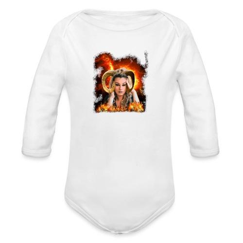 Widder Lady - Baby Bio-Langarm-Body