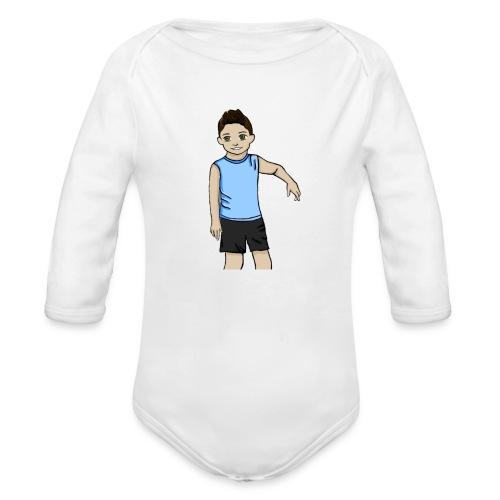 OfirGaming HD logo - Organic Longsleeve Baby Bodysuit