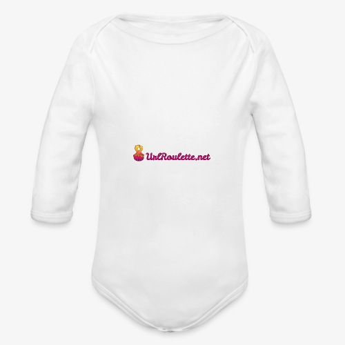 UrlRoulette Logo - Organic Longsleeve Baby Bodysuit