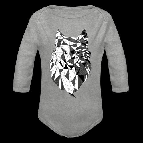 Polygoon wolf - Baby bio-rompertje met lange mouwen