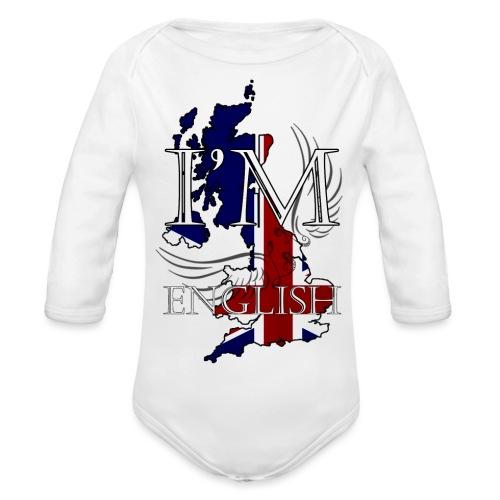 I am English - Body ecologico per neonato a manica lunga