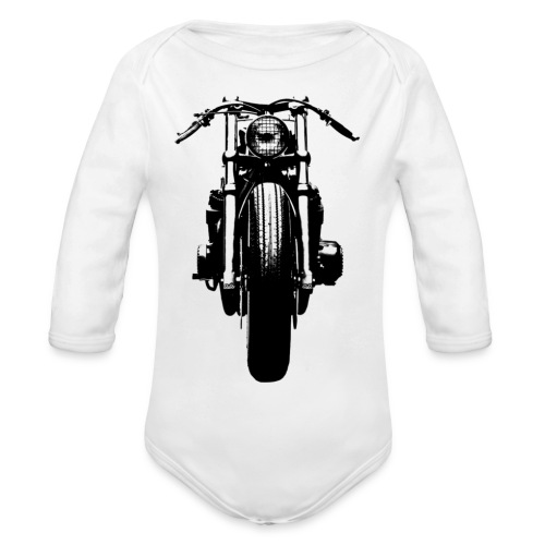 Motorcycle Front - Organic Longsleeve Baby Bodysuit