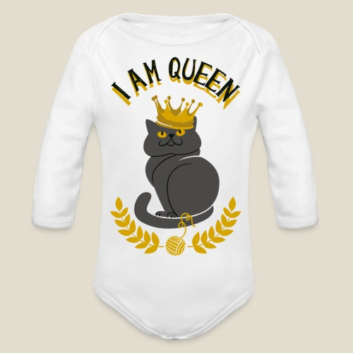 I am Queen - Body Bébé bio manches longues