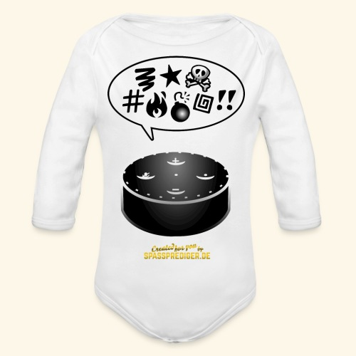 lustiges T-Shirt-Design Alexa flucht - Baby Bio-Langarm-Body