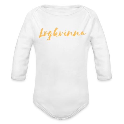 Løgkvinna - Langærmet babybody, økologisk bomuld