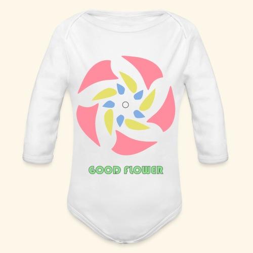 GOOD FLOWER - Body orgánico de manga larga para bebé