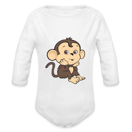 Monkey - Ekologisk långärmad babybody